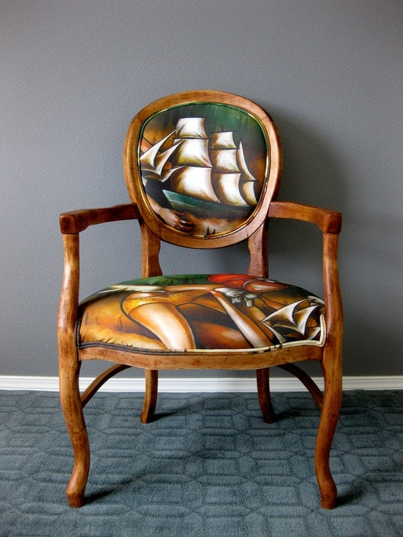 Baron of the Deep Chair - Brandi Milne artist collaboration