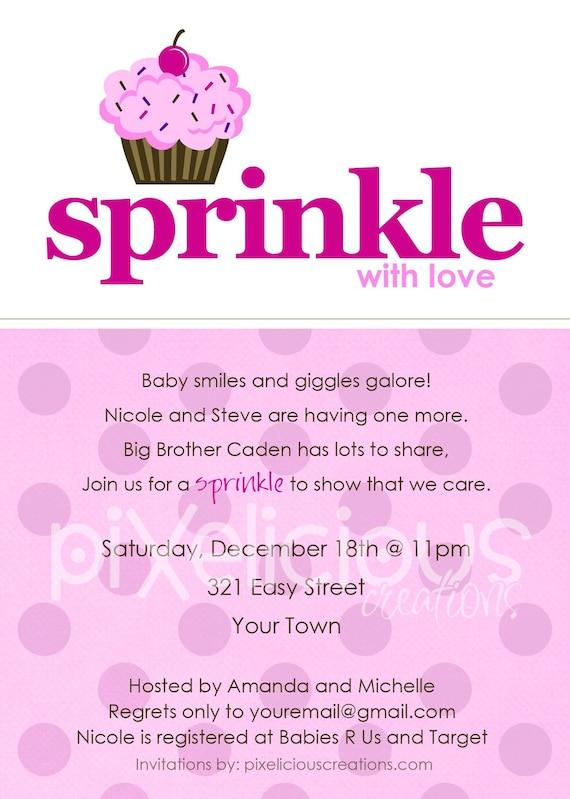 sprinkle custom baby shower invitation boy and girl digital file