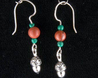 Christmas Acorn Earrings