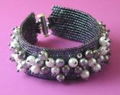 Hematite bracelet with Pearls