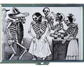 Posada Day Of The Dead Skulls Party ID Cigarette Case