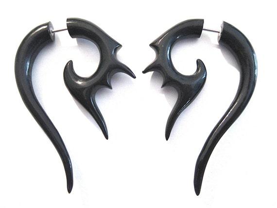 Girl with the dragon tattoo fake gauges Lisbeth Salander earrings