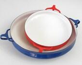 Dansk Kobenstyle Red Enameled Paella Pan by Jens Quistgaard IHQ, 1960's