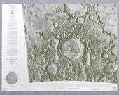1966 NASA Lunar Chart, Moon Landing Site, Petavius LAC98, 1st Edition