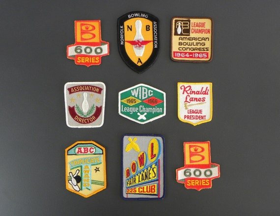 RESERVED / Vintage Bowling League Patch, 1960's, Mint / Unused Condition, 5.00 each, Free Shipping