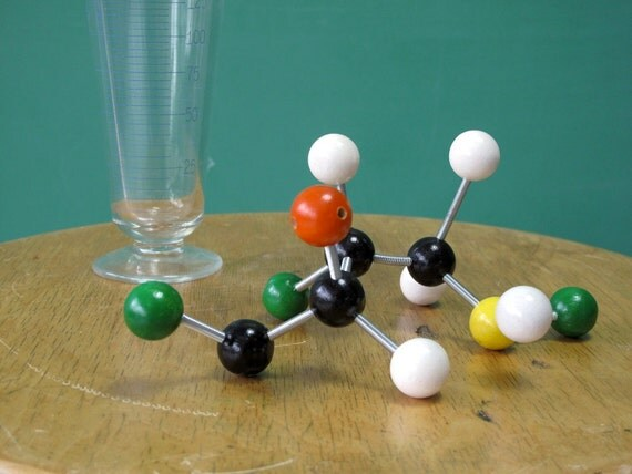 Chemistry Molecular Model, Science, Teaching Aid, Multicolored, from Cathode Blue