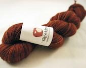 BFL Fingering Sock Yarn - Greed - Bonfire