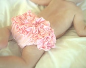 Ruffle Bottom Bloomers in Soft pink READY TO SHIP 3 mo