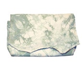 Handmade Seafoam Green and White Embroidered Leather Belt Bag or Clutch Purse