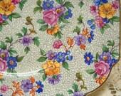 Vintage Erphila Cherry Chintz Plate - WARWICK - Germany