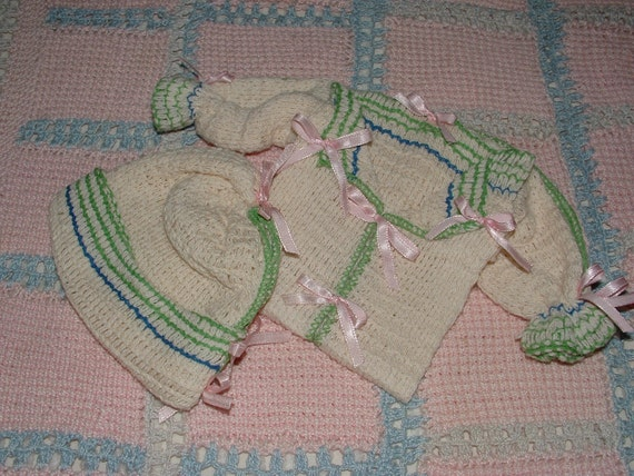 Vintage Dish Cloth Baby Layette - Bridal Shower - just for fun