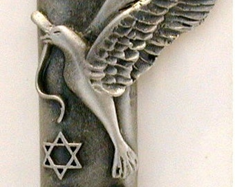 Pewter Mezuzah made using Swarovski Crystal