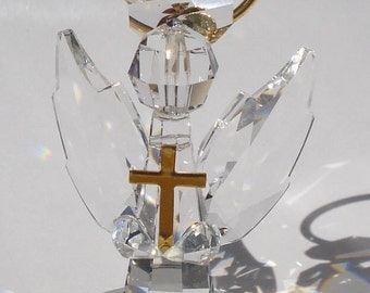 Handcrafted Crystal Angel made using Swarovski Crystal