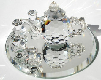 Tea Set made with Swarovski Crystal