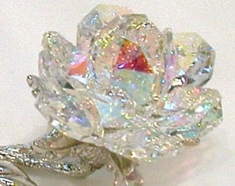 AB Crystal Rose made with Swarovski Crystal
