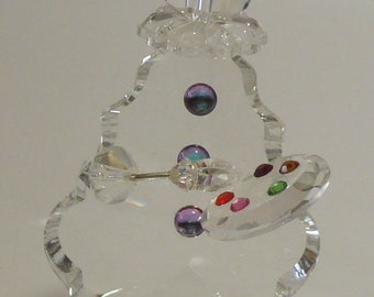 Crystal Clown Painting made with Swarovski Crystal