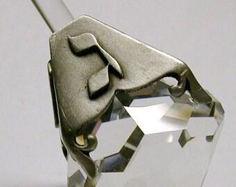 Crystal and Pewter Dreidel made with Swarovski Crystal