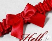 Wedding Garter, Boudoir Garter, Bridal Garter, Prom Garter - Apple Red Garter SINGLE - Other Colors Available