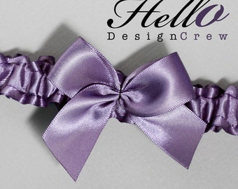 Wedding Garter, Bridal Garter, Boudoir Garter, Prom Garter - Victorian Lilac Garter SINGLE Other Colors Available