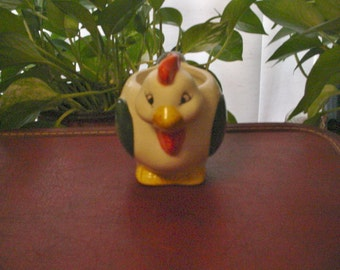 Old Hand painted Chicken Planter made in China