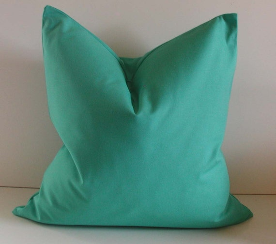 Turquoise Pillow - 20 inch - Decorative Pillow Cover - Cotton - Aqua - ready to ship