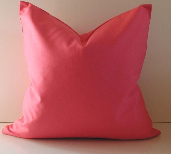 Decorative Pillow Bright Pink Cotton 20 by STUDIOTULLIAPILLOWS