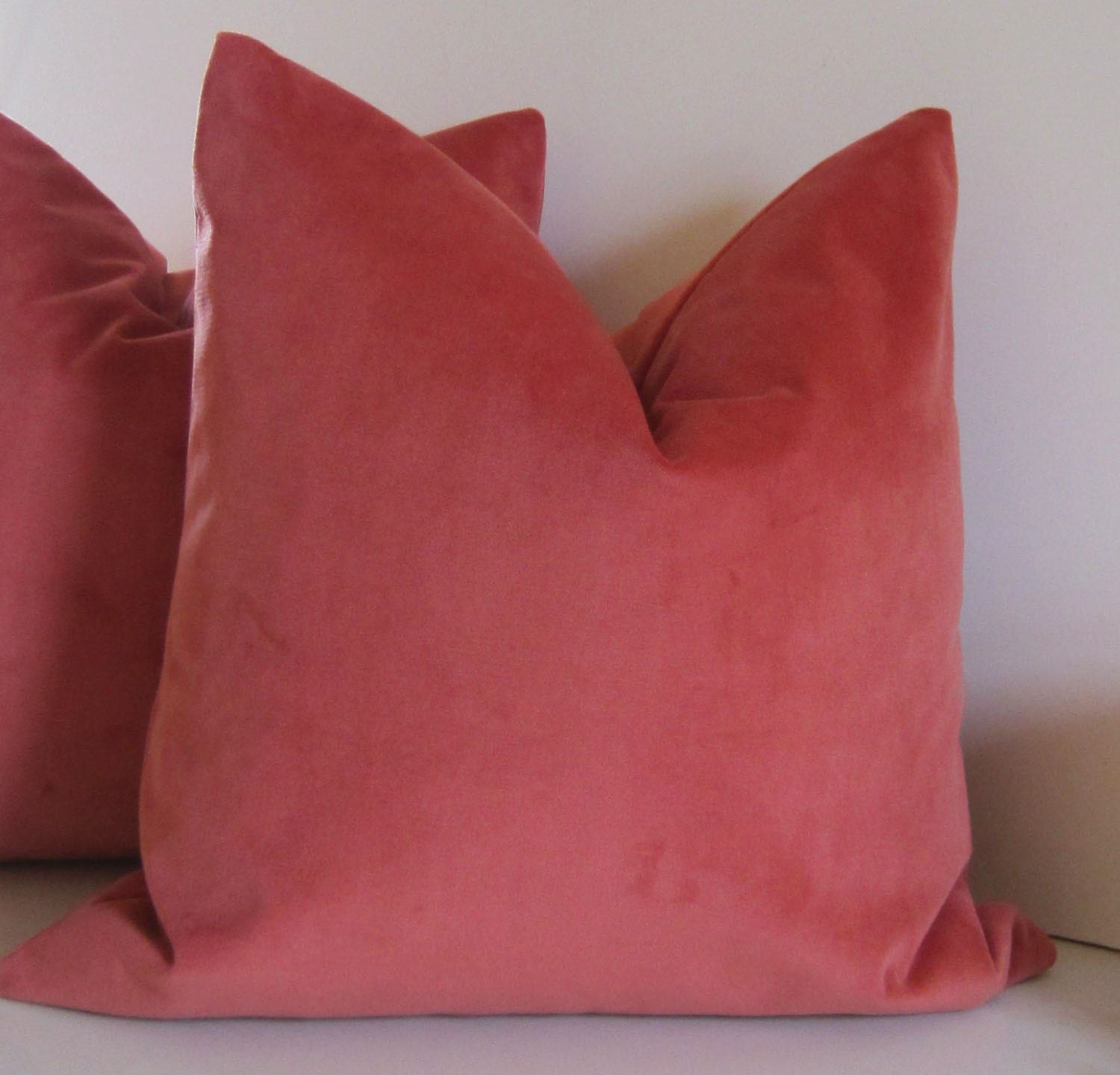 Coral pillow decorative pillow cover 20 by studiotulliapillows for Designer accent pillows
