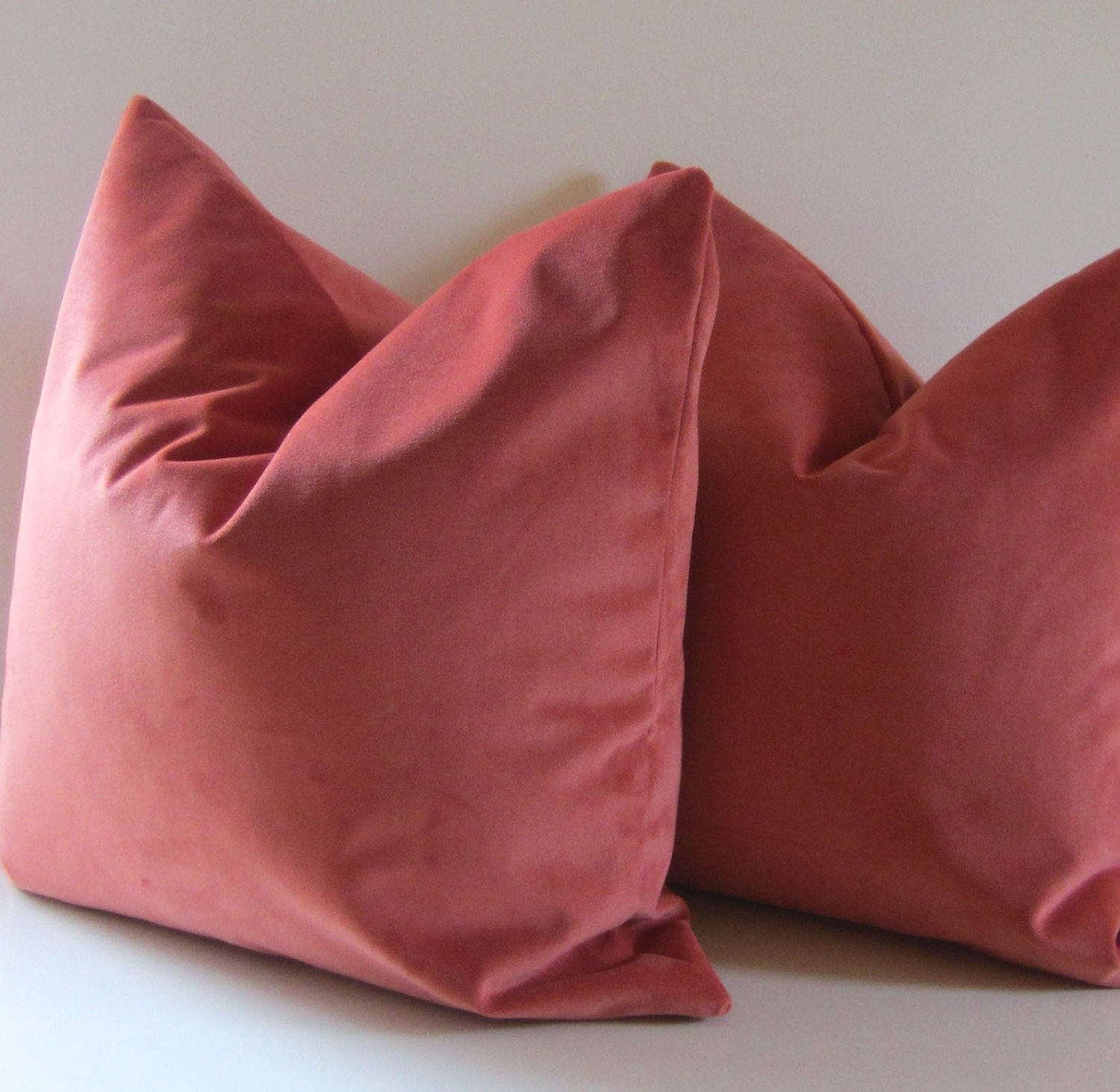 Decorative Pillow Covers Set Five : Set of Two Coral pillows Decorative Pillow Covers 20