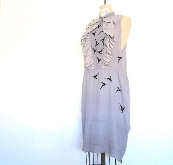 Reserved for Rachel Silk Flock of Gazelles Dress