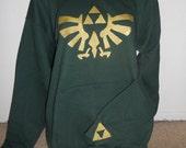back for LIMITED TIME green Legend of Zelda pullover hoodie adult