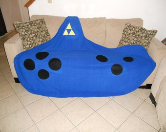 Legend of Zelda Giant ocarina LOZ fleece blanket
