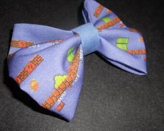 Super Mario Bros old school nintendo inspired Hair Bow or Bow Tie