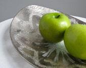 Vintage Dorothy Thorpe Silvered Glass Bowl - Mid Century Modern California Design Silver Metallic
