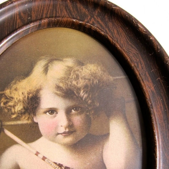 Vintage Framed Print of Cupid Awake