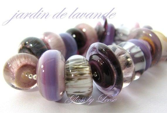 Lavender Pink Garden Raku Glass by Leese