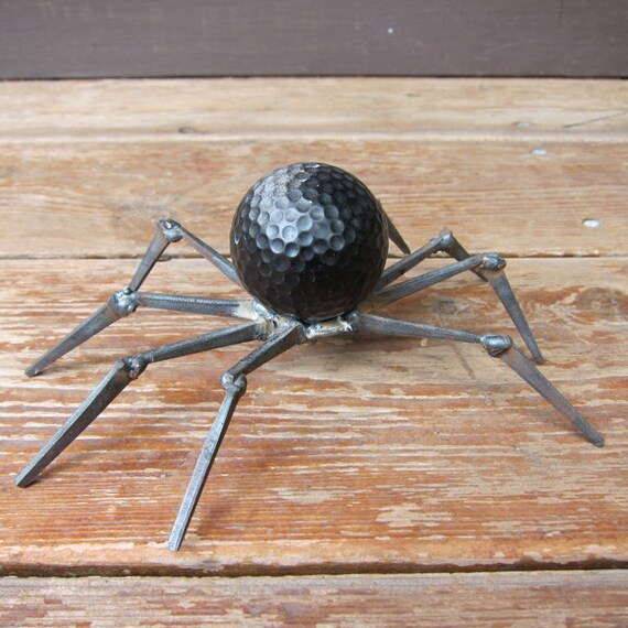 Mini Garden Spider - golf ball and nails