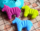 Zebra (16mm) Silicone Flexible Push Mold - Jewelry, Charms, Cupcake (Clay, Fimo, Casting Resins, Epoxy, Wax, Soap, Gum Paste, Fondant) MD428