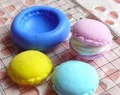 Macaron Mold 16mm Flexible Silicone Mold Kawaii Deco Sweets Miniature Food Mold Fimo Polymer Clay Jewelry Charms Cabochon Mini Mold MD252