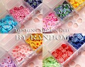 FLOWER Polymer Clay Cane Assorted Slices Mix & Container Miniature Kawaii Decoration Nail Art Decoden (over 1000 RANDOM pcs) CMX101