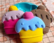 Decoden Supplies Cake Mold 24mm Flexible Mold Miniature Sweets Deco Fimo Polymer Clay Charms Kawaii Cabochon Silicone Fondant Mold MD317