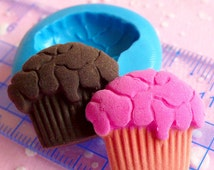 Cupcake Mold 21mm Flexible Silicone Mold Kawaii Miniature Sweets Deco Kitsch Jewelry Charms Cabochon Polymer Clay Mold Fimo Resin Mold MD319