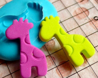 Giraffe (20mm) Silicone Flexible Push Mold - Jewelry, Charms, Cupcake (Clay Fimo Casting Resins Epoxy Wax Soap Gum Paste Fondant) MD431