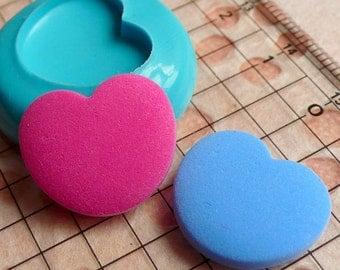 Heart Mold 18mm Silicone Mold Flexible Mold Scrapboooking Mold Mini Cupcake Topper Mold fondant Gumpaste Fimo Polymer Clay Resin Mold MD504