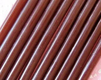 Chocolate Deco Sauce / Brown Color Glue Sticks (10 pcs) - Miniature Sweets Ice Cream Cupcake Whipped Cream Kawaii Cell Phone Deco DS101