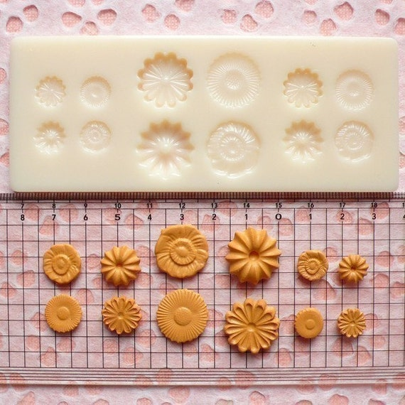 Mold / Mould - Set of Cookie / Biscuit and Flower Mold for Making Miniature Food / Sweets / Dessert / Jewelry (Resin Clay)