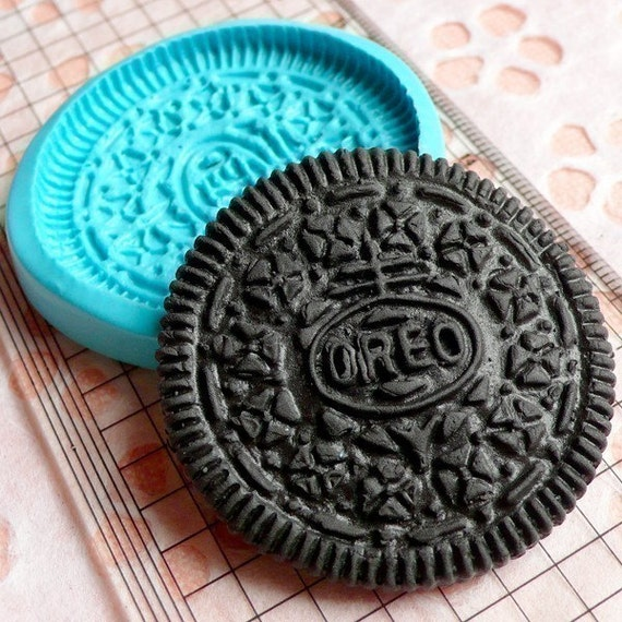 Round Cookie Biscuit Mold 42mm Silicone Flexible Mold Decoden Kawaii Sweets Fimo Polymer Clay Food Jewelry Cabochon Mold Charms Resin Wax