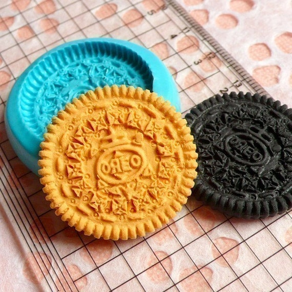 Round Cookie Biscuit Mold 28mm Silicone Flexible Mold Decoden Kawaii Miniature Sweets Fimo Polymer Clay Food Jewelry Mold Cabochon Charms