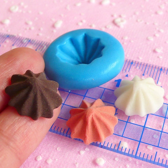 Whipped Cream Mold Frosting 15mm Silicone Flexible Mold Miniature Sweets Cupcake Fimo Polymer Clay Decoden Kawaii Jewelry Resin Mold MD274
