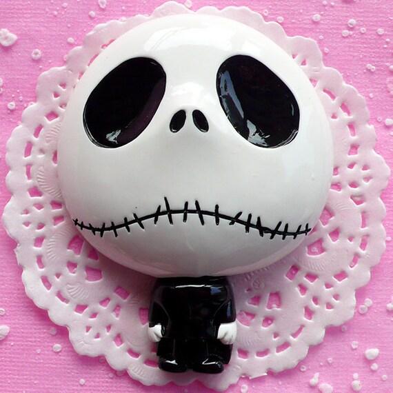 Kawaii Big Skull / Skeleton Cabochon BIG 79mm x 63mm Kawaii Big Cabochon for Cell phone Deco