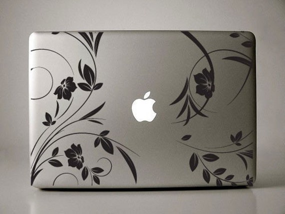 Lirenda Floral - Macbook Decal mac decal macbook pro decal